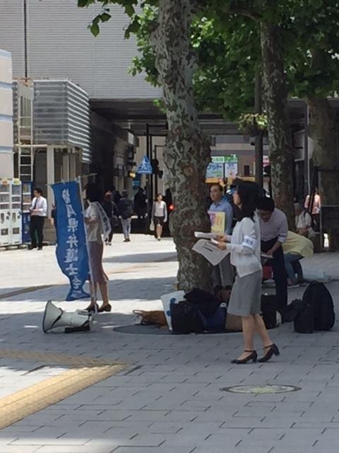 17.6.13共謀罪廃案・浜松駅前・弁護士会昼宣伝①.JPG